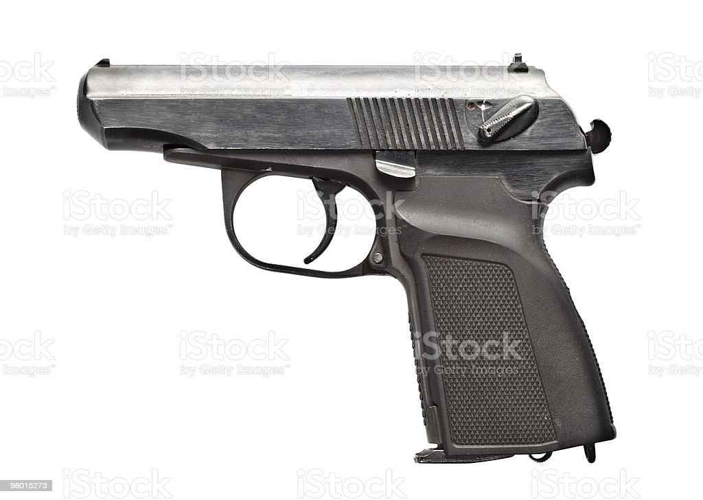 black vintage pistol royalty-free stock photo