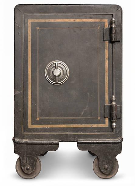 vintage coffre-fort - coffre fort équipement de sécurité photos et images de collection