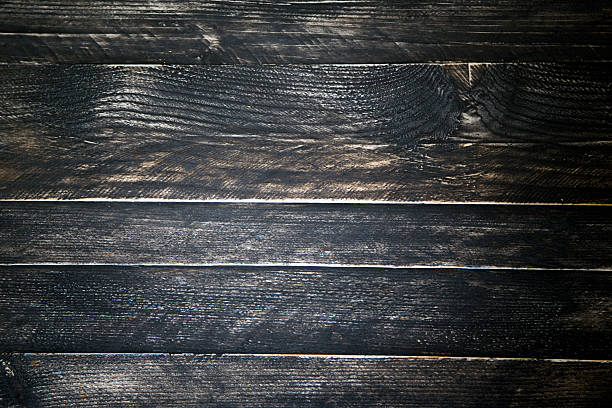 black wood stains wood table top view pictures images and stock photos istock