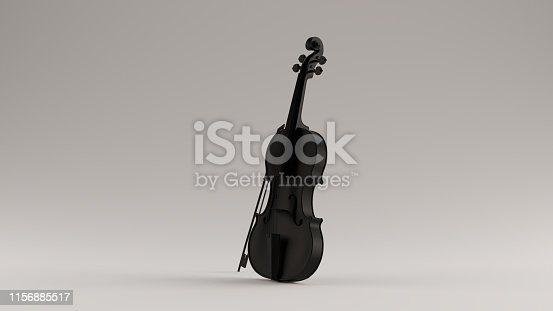 istock Black Violin and Bow 3 Quarter Left View 1156885517