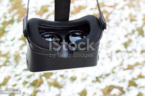 istock Black virtual reality gaming headset 1080614556