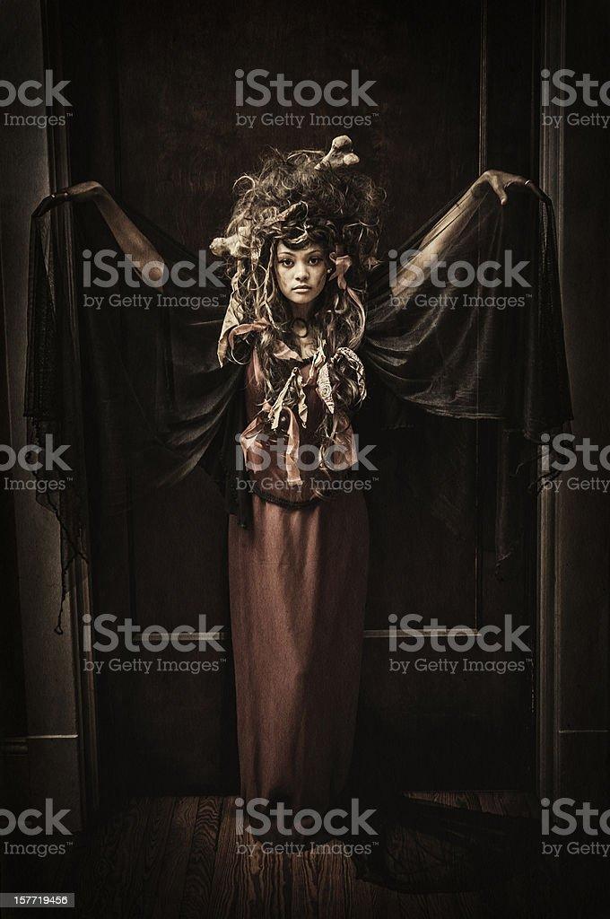 Black Voodoo Queen portrait - I stock photo