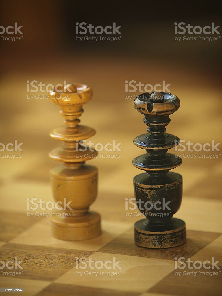 Black vs White Kings stock photo