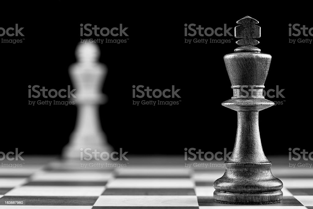 Black vs White royalty-free stock photo