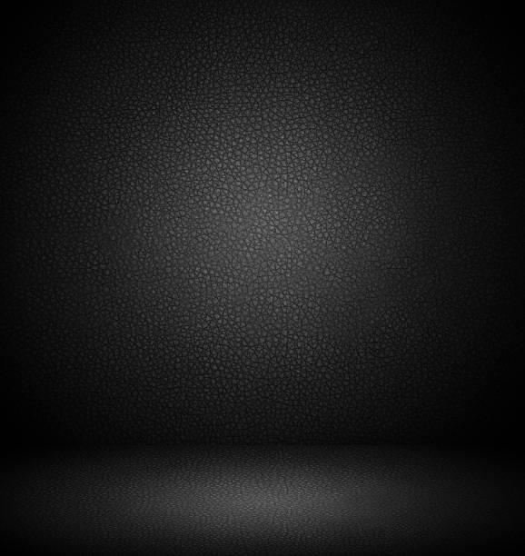 interior negro de pared y de piso - foto de stock