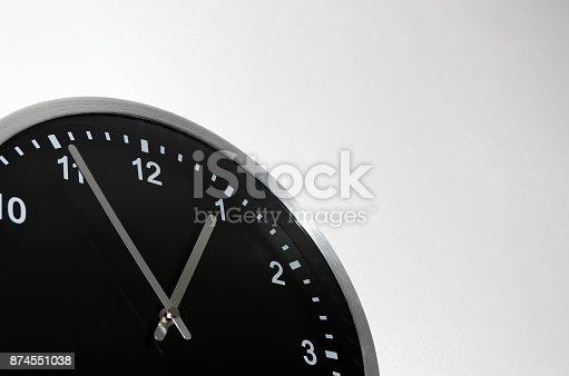 istock Black wall clock 874551038