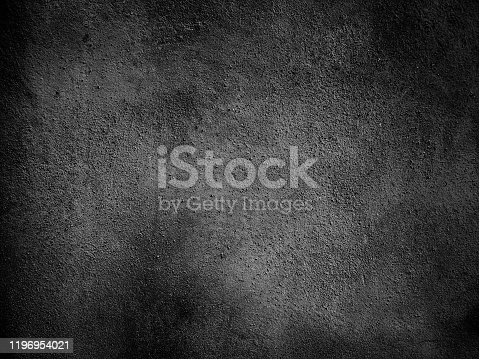 184601291istockphoto Black wall vignette texture abstract background. 1196954021