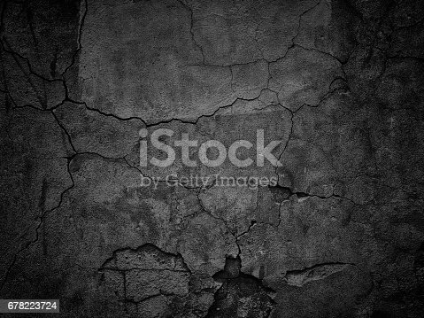 istock black wall with cracks texture for background 678223724