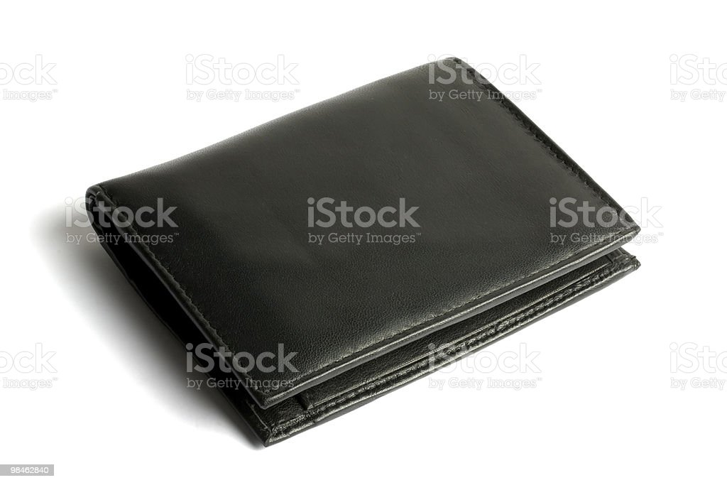 Black wallet royalty-free stock photo