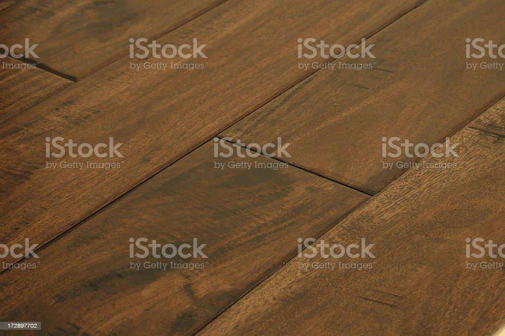 Black Walnut Hardwood Flooring - Angle View stock photo