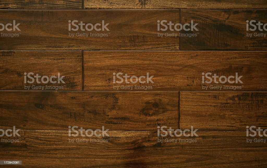 Black Walnut Hardwood Flooring - Overhead View stock photo