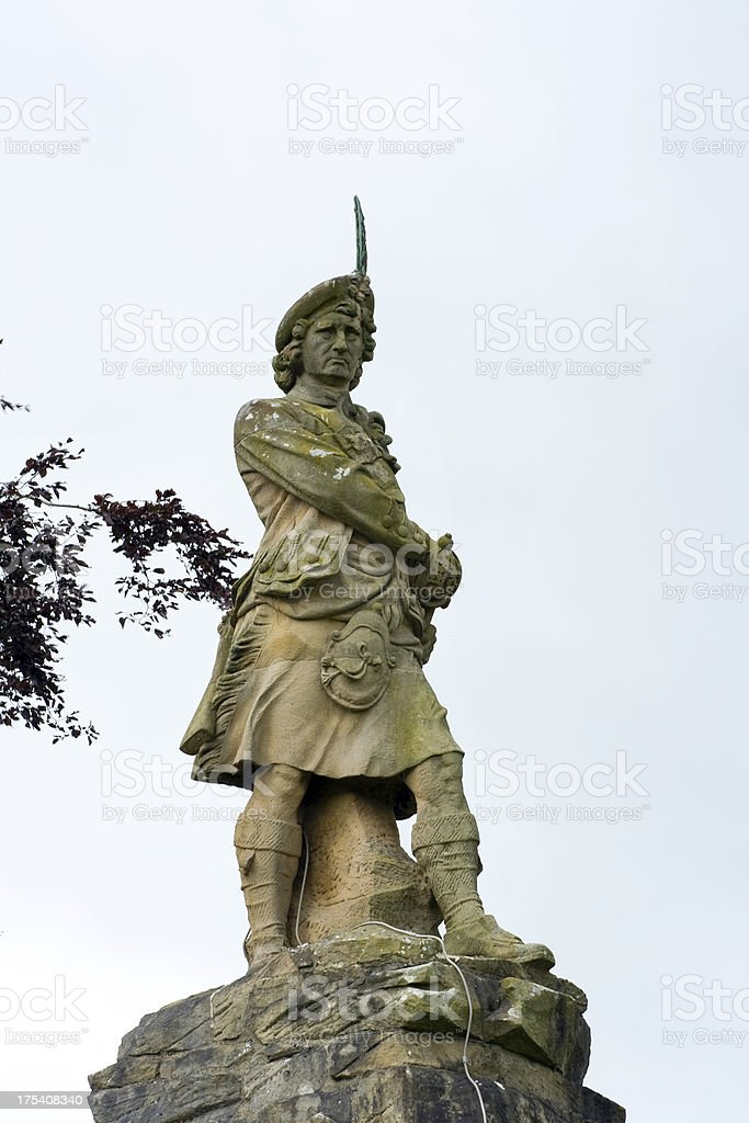 Black Watch Memorial and Highlander stock photo