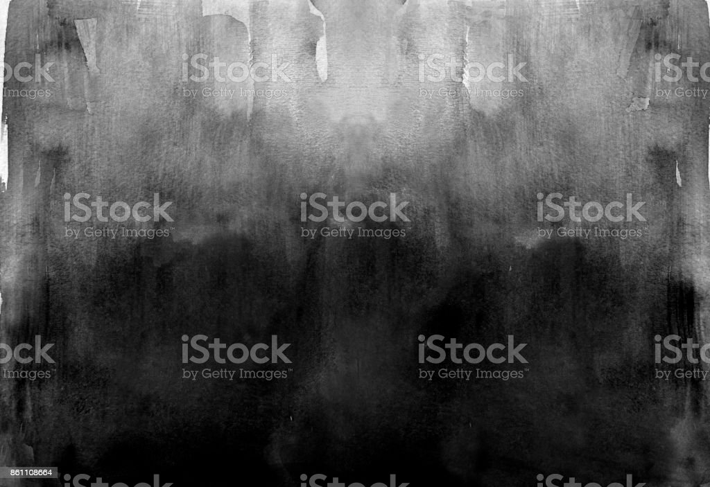 Black watercolor background stock photo