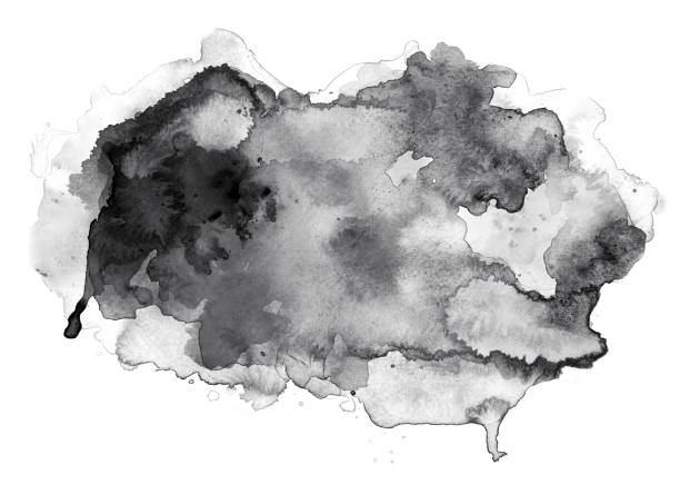 black watercolor cloud on white - ink stock pictures, royalty-free photos & images