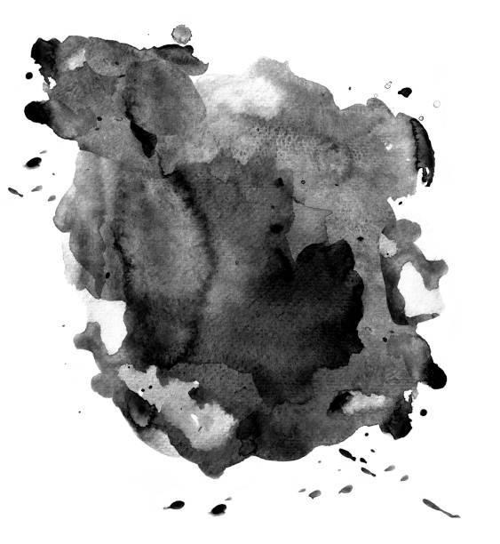 black watercolor on white - ink stock pictures, royalty-free photos & images