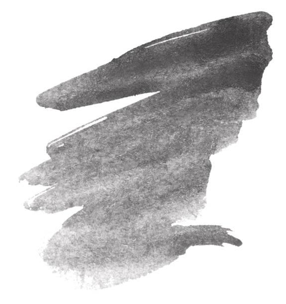 schwarzen aquarell - grauflecken stock-fotos und bilder