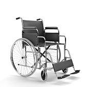Black Wheelchair on White Background (XXXL)