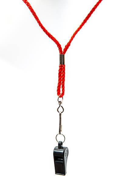 black whistle stock photo