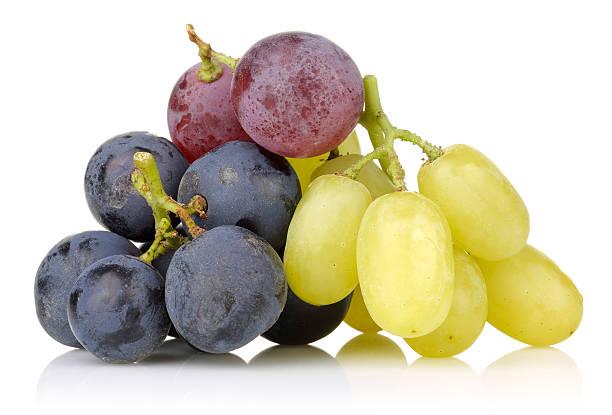 Preto, branco e uva vermelha - foto de acervo
