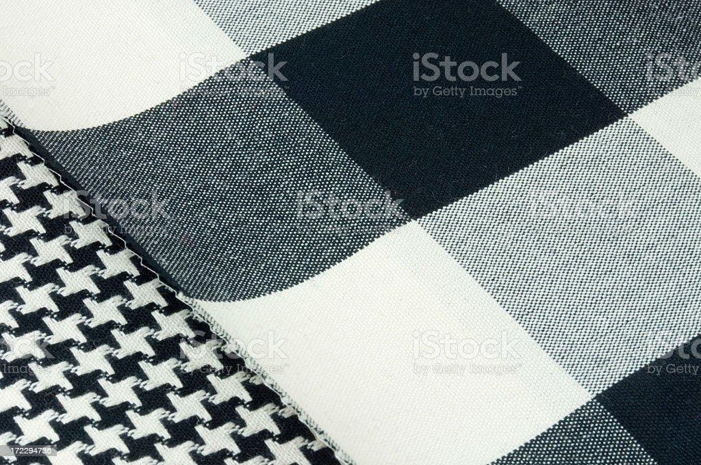 Black & White fabrics stock photo