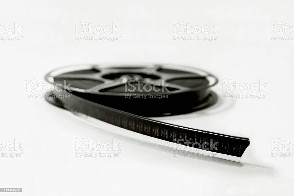 Black & White Film Reel (8mm) royalty-free stock photo