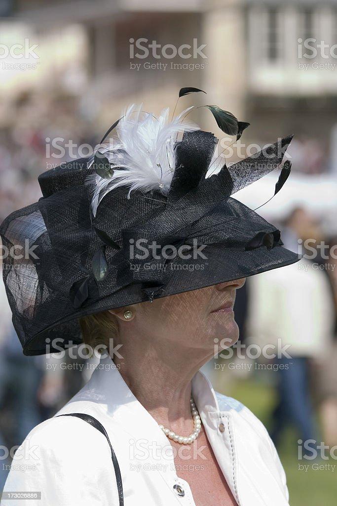 Black & White Hat royalty-free stock photo