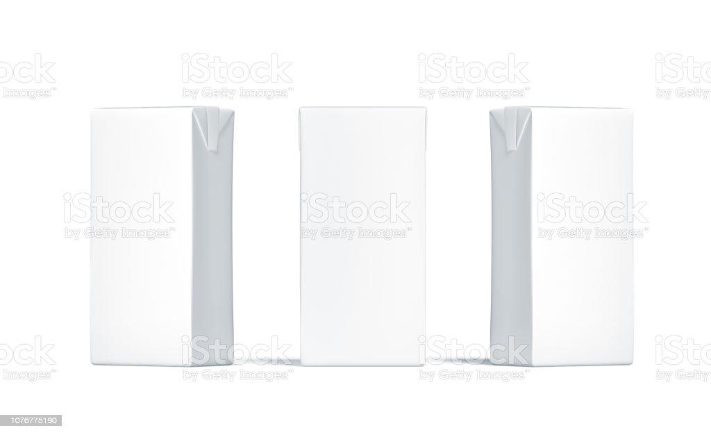 Maquete de pacote de sumo branco preto, vista lateral frontal, - foto de acervo