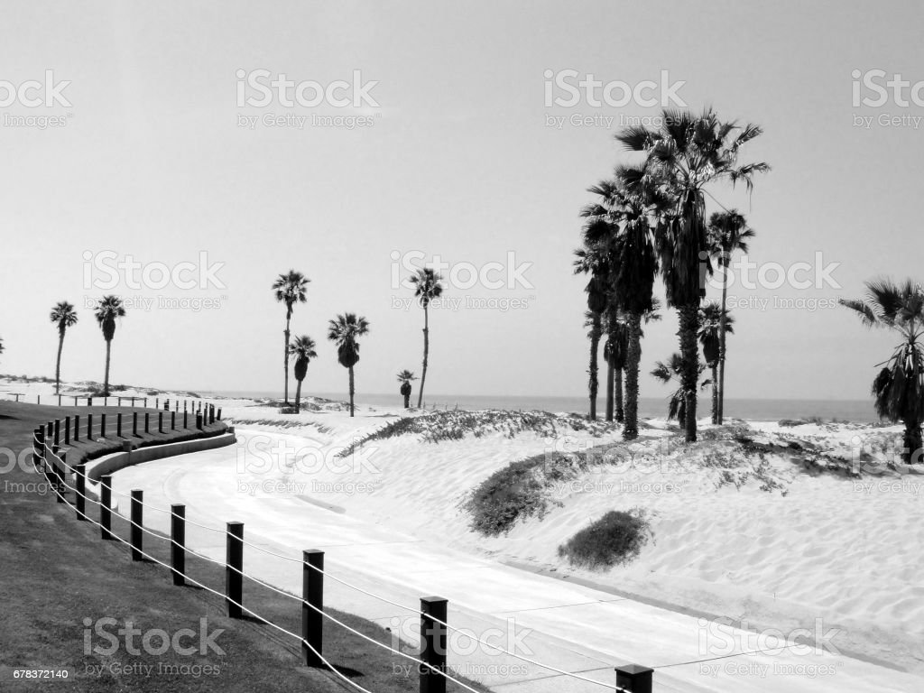 A Black & White Look at the Beach stock photo