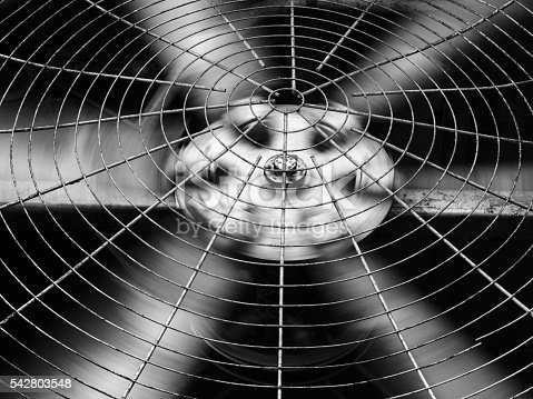istock Black white of HVAC (Heating, Ventilation and Air Conditioning) blades 542803548
