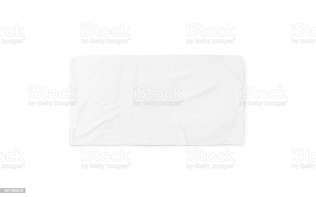 Black white soft beach towel mock up isolated - foto stock