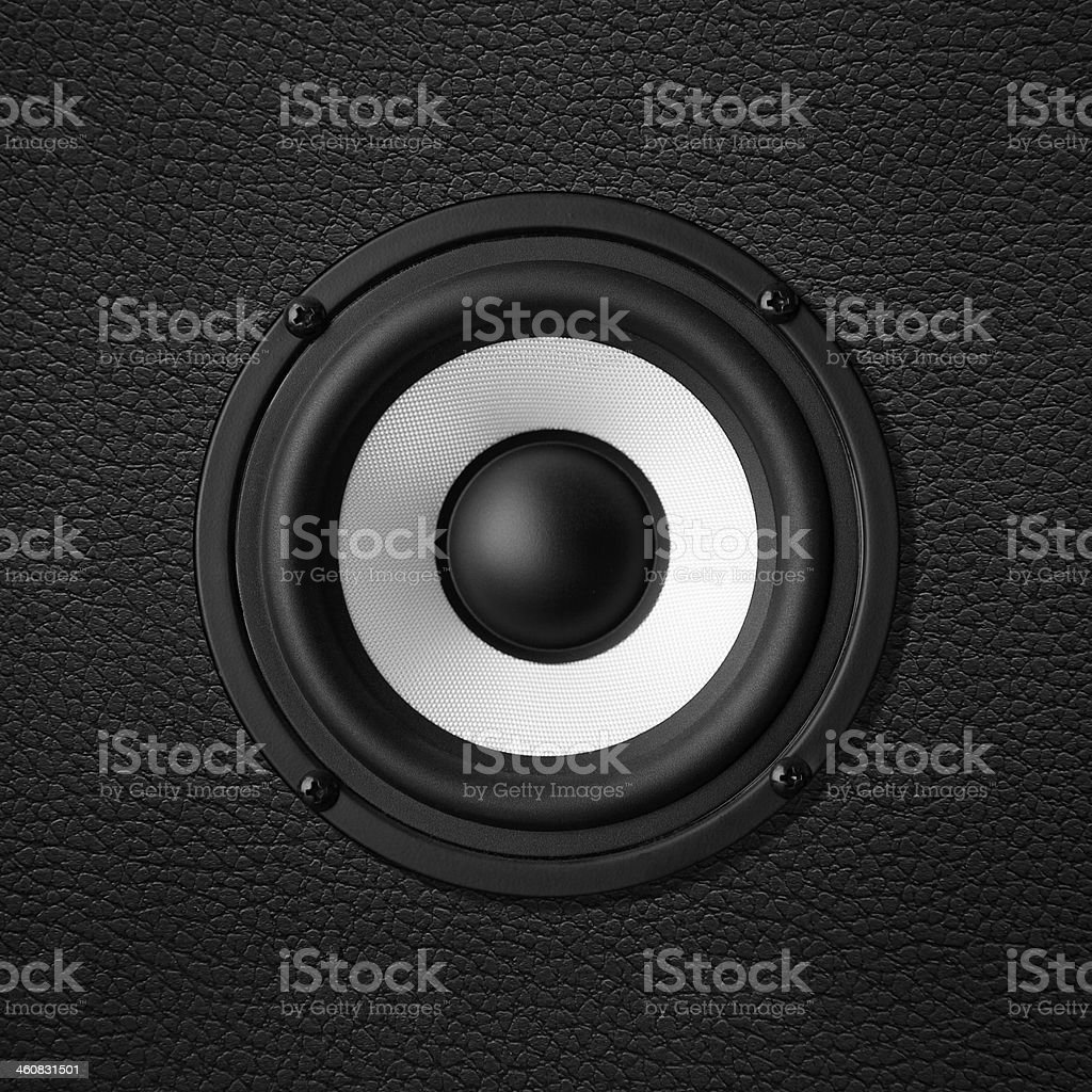 black & white speaker royalty-free stock photo