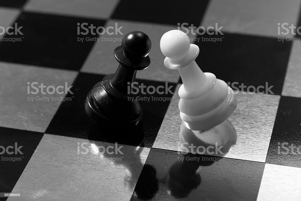 Black & White Stalemate royalty-free stock photo