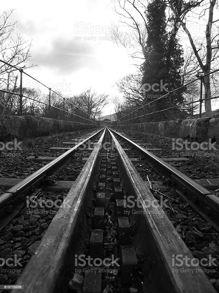 Black & White Track stock photo