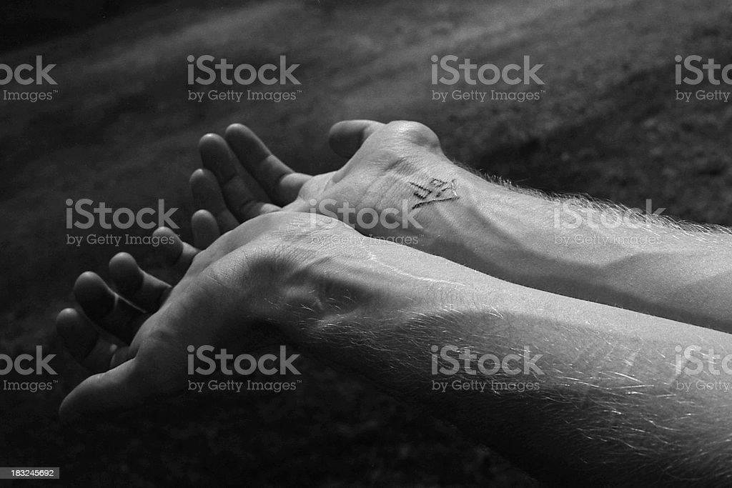 Black White Wrists royalty-free stock photo