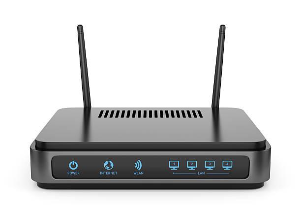 ブラックの wi -fi 、ルータ ストックフォト