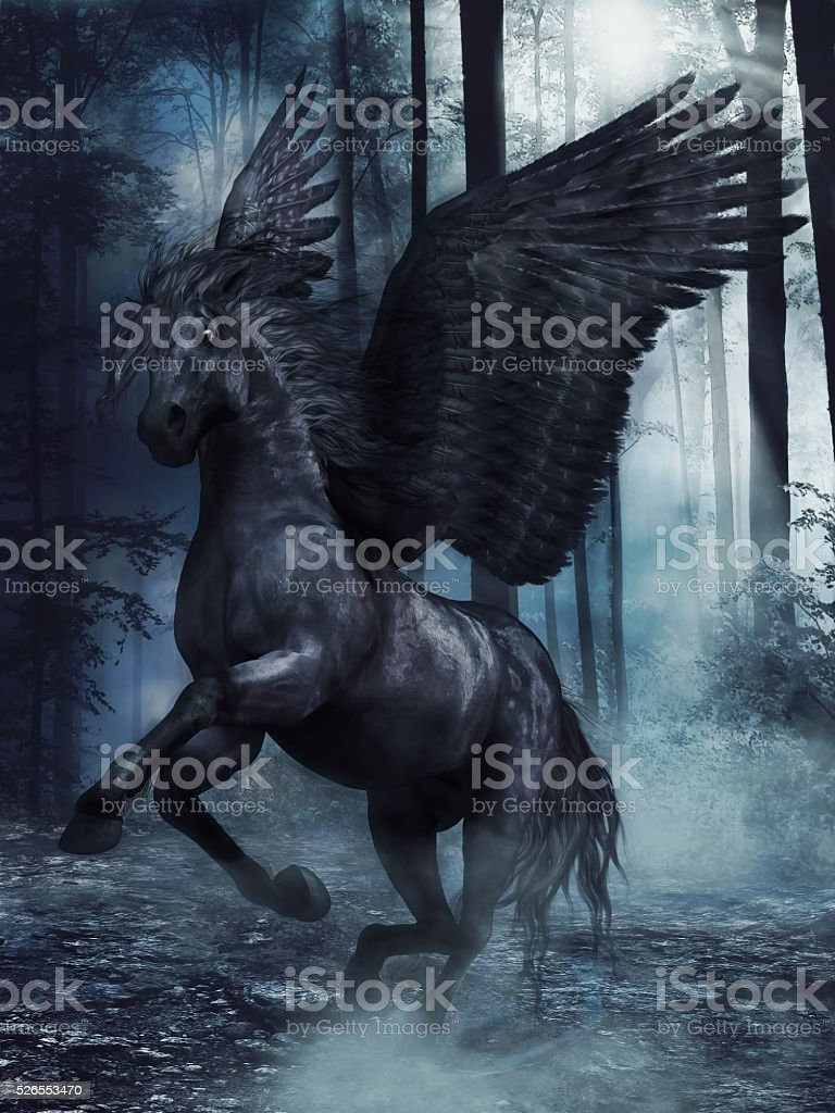 Black Winged Horse Stock Photo Download Image Now Istock