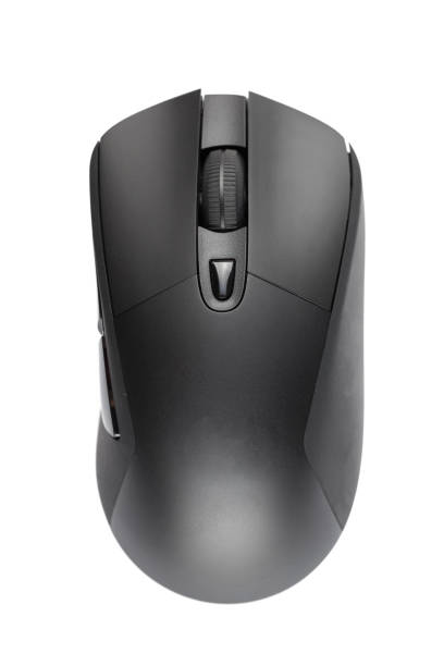 black wireless mouse stock photo