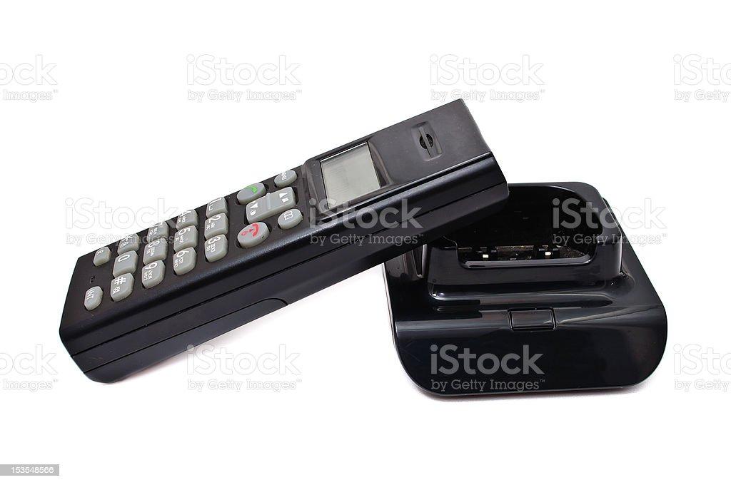 Black wireless phones royalty-free stock photo