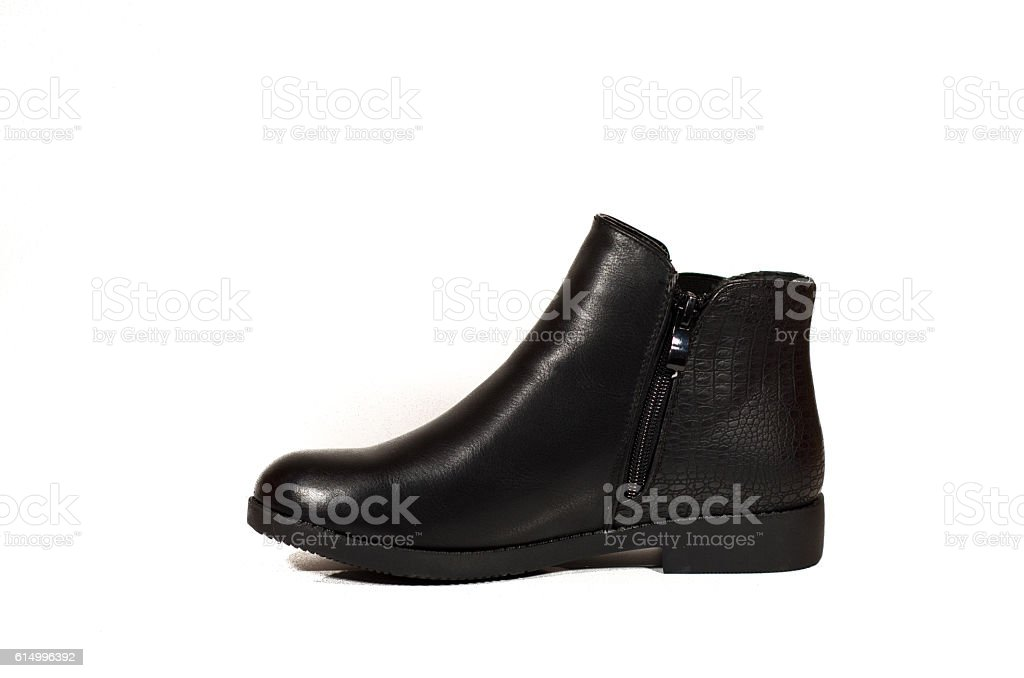 black woman boot stock photo