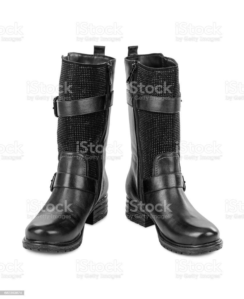 Black woman boots royalty free stockfoto