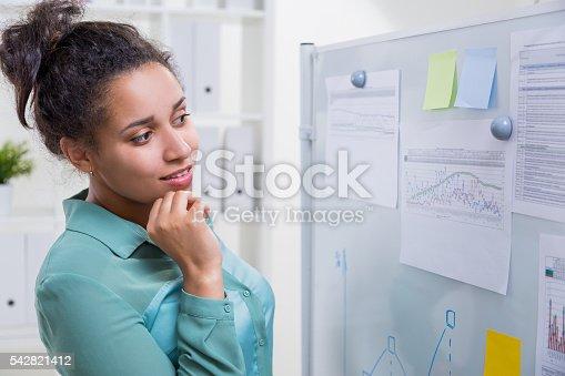 istock Black woman in office 542821412