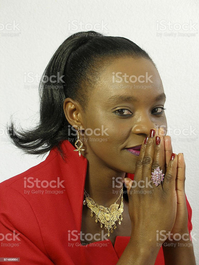 Black woman prying royalty-free stock photo