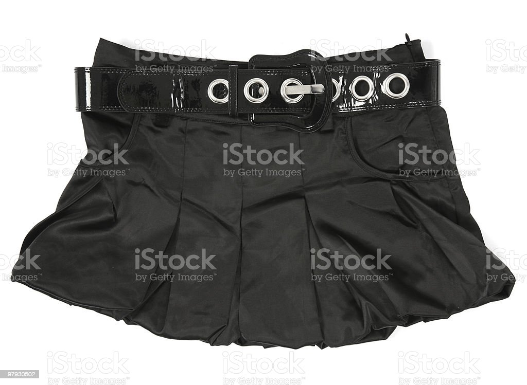 Black, woman skirt royalty-free stock photo