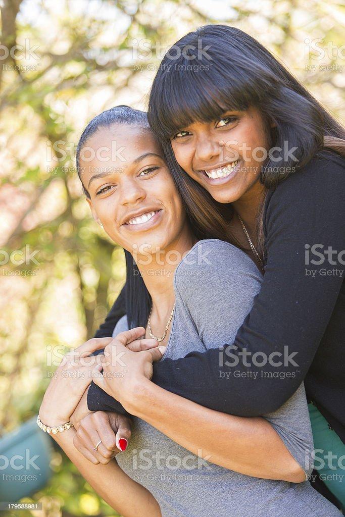 Black Women Friends royalty-free stock photo