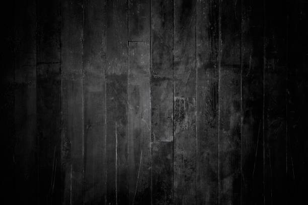 black wood background - dark wood texture stock photos and pictures
