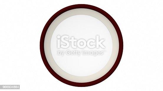 1144461291 istock photo Black wood blank circle frame on white background. 3d rendering 966904884