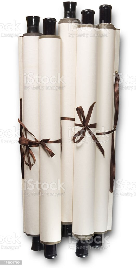 Black Wood Stick Roll Paint royalty-free stock photo