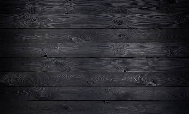 Black wooden background, old wooden planks texture Black wooden background, old wooden planks texture, dark coal wall for product black color stock pictures, royalty-free photos & images