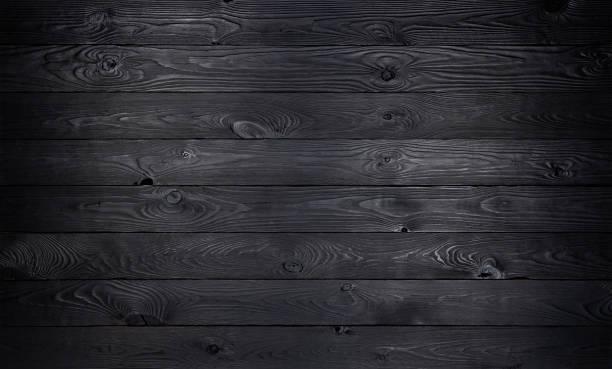 fond en bois noir, vieille texture de planches en bois - fond bois photos et images de collection