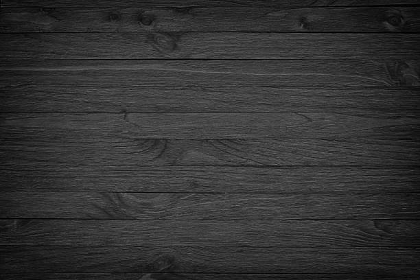 black wooden background or gloomy wood grain texture - dark wood texture stock photos and pictures